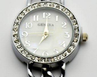 Round Watch Face | Crystal Watch Face | Unique Watch Face | Beading Watch Face | Wrist Watch Face | Ladies Watch Face | Watch Face - WF00138