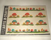Meyercord Vintage Decals Gnome Mushrooms Nature New Old Stock