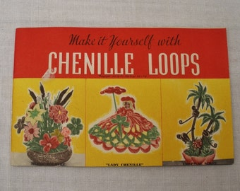 Vintage 1950s Chenille Loops Craft Book