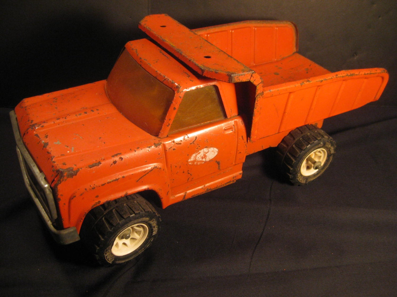 Vintage rouge tonka camion benne basculante xr 101 - Camion benne tonka ...