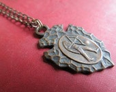 Brave...Vintage Men's Key Ring Fob Necklace