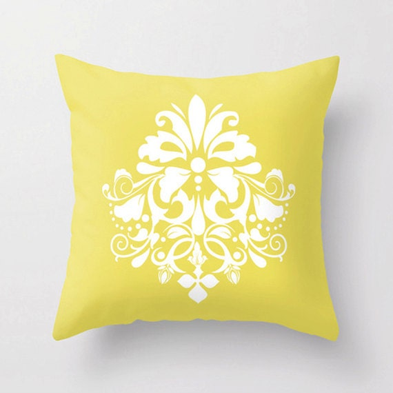 Items similar to Pillows, Decorative Throw Pillow Cover, Beautiful Easter Decor Damask Print in ...
