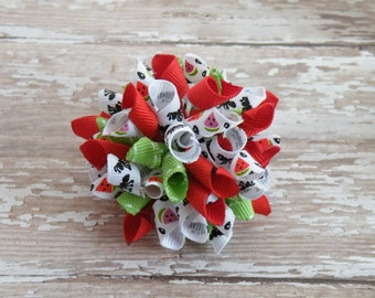 """2"""" Watermelon Wedges and Ants Korker, Watermelon hairbow, Watermelon and Ants bow, Watermelon bow"""