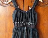 a gorgeous 1950s chiffon overlay ballerina dress black lace nightgown