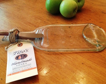 Melted Repurposed TITO'S VODKA bottle cheese tray