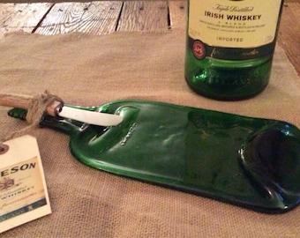 JAMESON WHISKEY repurposed bottle FLAT Serving tray