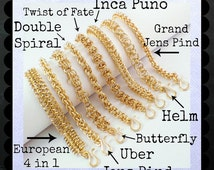 SALE Half Price Brass Craft Faire Kit - EIGHT Different Bracelets - DIY Chainmaille - Custom Hand Made Jump Rings and Forged Brass Clasps