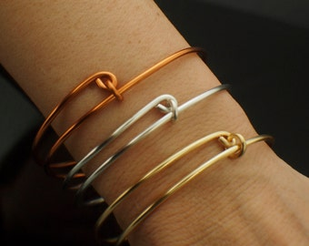 1 Bold Bangle Base - 12 gauge Snag-less Non Tarnish Silver Plate, Gold Color, Non Tarnish Copper - Also Solid Metals and Precious Metals
