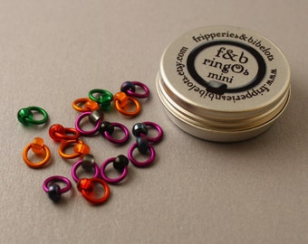 ringOs Mini Rock Chick - Snag-Free Ring Stitch Markers for Sock Knitting