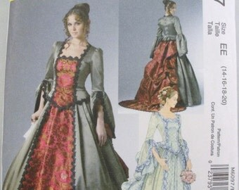 Victorian gown Adult Costume pattern McCalls 6097 sizes 14-20
