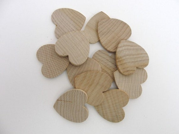12 Wooden Hearts 1 1 4 Inch 1 25 Quot Wide 1 8 Inch Thick