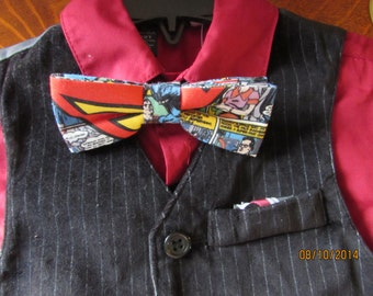 Boys Superman Banded Bow Tie