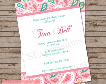 Paisley Babyshower Invitation