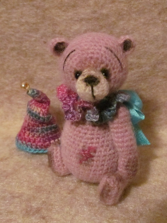 Free Crochet Mini Teddy Bear Pattern : Miniature Thread Artist Crochet Teddy Bear PATTERN by ...