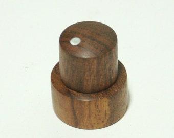Caribbean Rosewood Concentric Stacked Pot Guitar Knob Set (6mm/8mm) (5/8d top; 7/8d bottom)