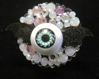 Sparkly Bat Eye ring