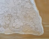 Vintage Lace Table cloth, table cover, square, White, cotton, home linens, accent, wedding table, cottage home, romantic living