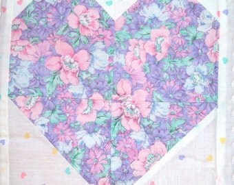 Heartsy Hearts Baby Quilt in Pink for Girls