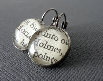 Holmes and Moriarty Earrings, Book Earrings, Geekery