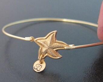 Personalized Starfish Bracelet, Starfish Wedding Jewelry, Beach Wedding Gift, Starfish Jewelry, Beach Bridesmaid Gift, Beach Bridal Jewelry