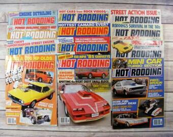Popular Hot Rodding Magazines 1979-1988  lot of 12 magazines