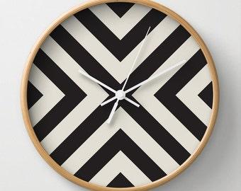 Black X Wall Clock 10 inch Diameter