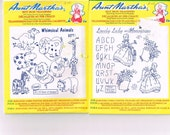 Aunt Martha's Iron on Embroidery Transfers,  Animals Ladies Flowers