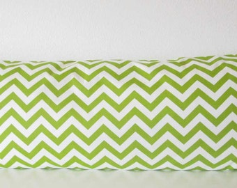 Green and white chevron accent pillow cover - Premier Prints Zig Zag Chartreuse White