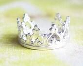 Sterling Silver Princess Crown Ear Cuff