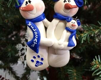 Personalized University of Kentucky UK Wildcats Family Christmas Ornament.