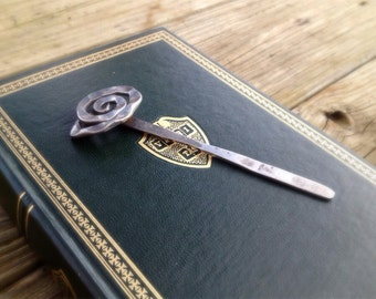 Rose bookmark - hand forged
