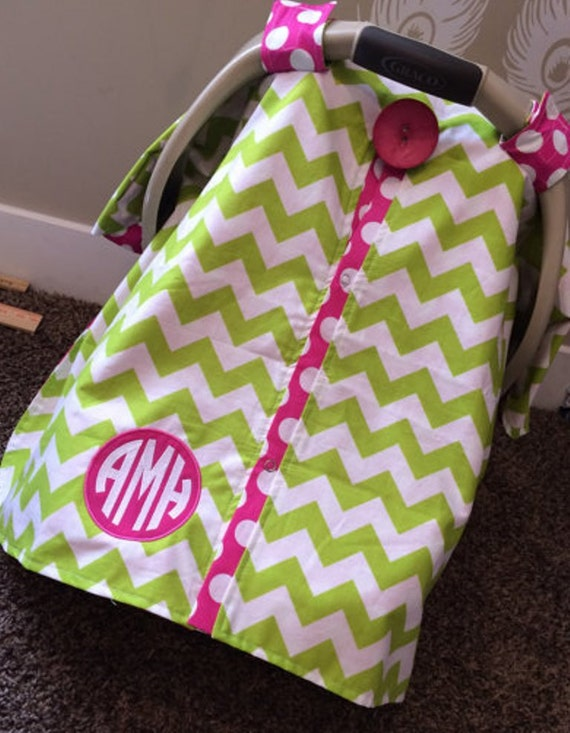 Add Profesional Monograming  / carseat cover / car seat cover / car seat canopy / nursing cover