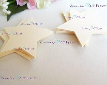"""48 Stars Tag Size 1.50"""" -Stars die cuts -Paper Start tags -Cardstock Stars die cuts -Paper Stars labels -Paper tags -Custom Stars die cut"""