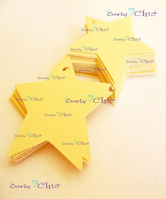 """30 Stars Tag Size 2"""" -Stars die cuts -Paper Start tags -Cardstock Stars die cuts -Paper Stars labels -Paper tags"""