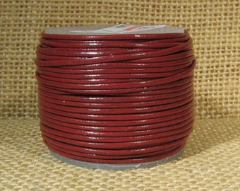 1mm Round Indian Leather - Rust - L1-156