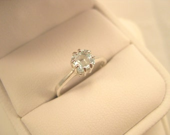 Asscher Cut Aquamarine Ring