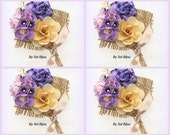 Boutonnieres, Corsages, Button Holes, Groom, Groomsmen, Lilac, Tan, Purple, Pearls, Wood, Burlap, Rustic, Elegant
