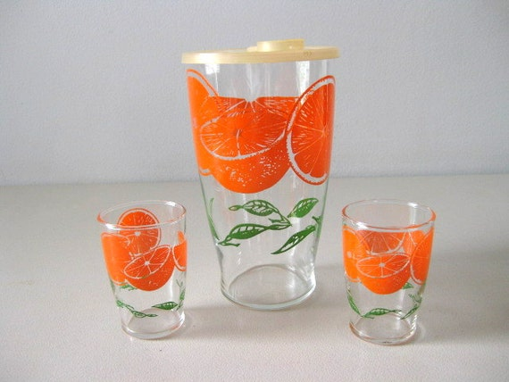 orange juice pitcher on etsy