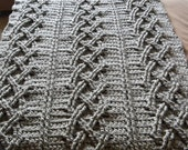 Big Chunky Cable Crochet Blanket - Pattern Only - permission to sell what you make