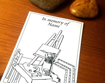 Artistic Studio Booklabels In memory of 25 Personalized Ex Libris Bookplates
