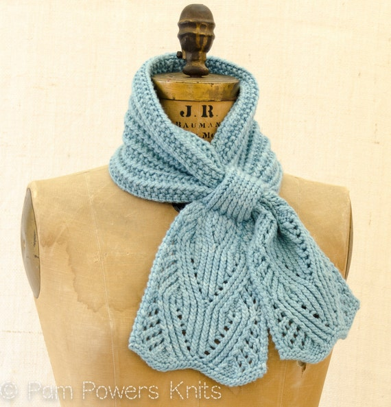 Chantilly Lace Ascot PDF Knitting Pattern Instant Download from PamPowersKnit...