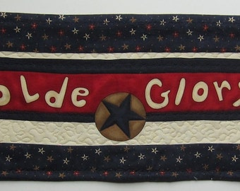 Olde Glory Patriotic Credenza or Table Topper