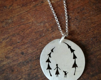 A gal's best friend sterling silver necklace