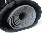Solid Black Yoga Mat Bag