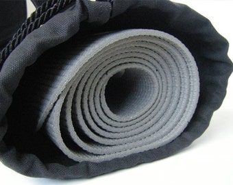 Solid Black Yoga Mat Bag