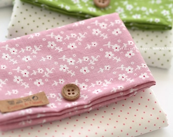 Lovely Petit floral on Pink cotton, U132