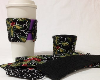 SALE!*!*!*! - Christmas Holly Coffee Cozie - *!*!*! 2 for 1 Mix and Match