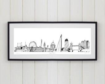 London Skyline Limited Edition Screen Print