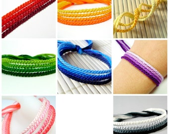 Shades of Rainbows Friendship Bracelet Sets (You Choose Color)