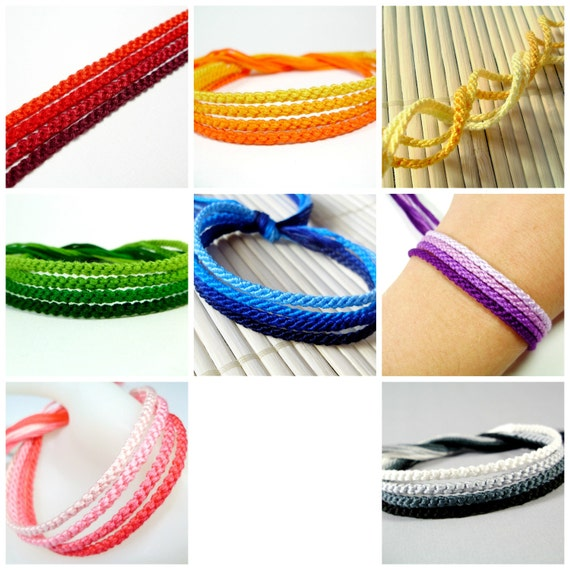 Shades of Rainbows Friendship Bracelet Sets (You Choose Color)